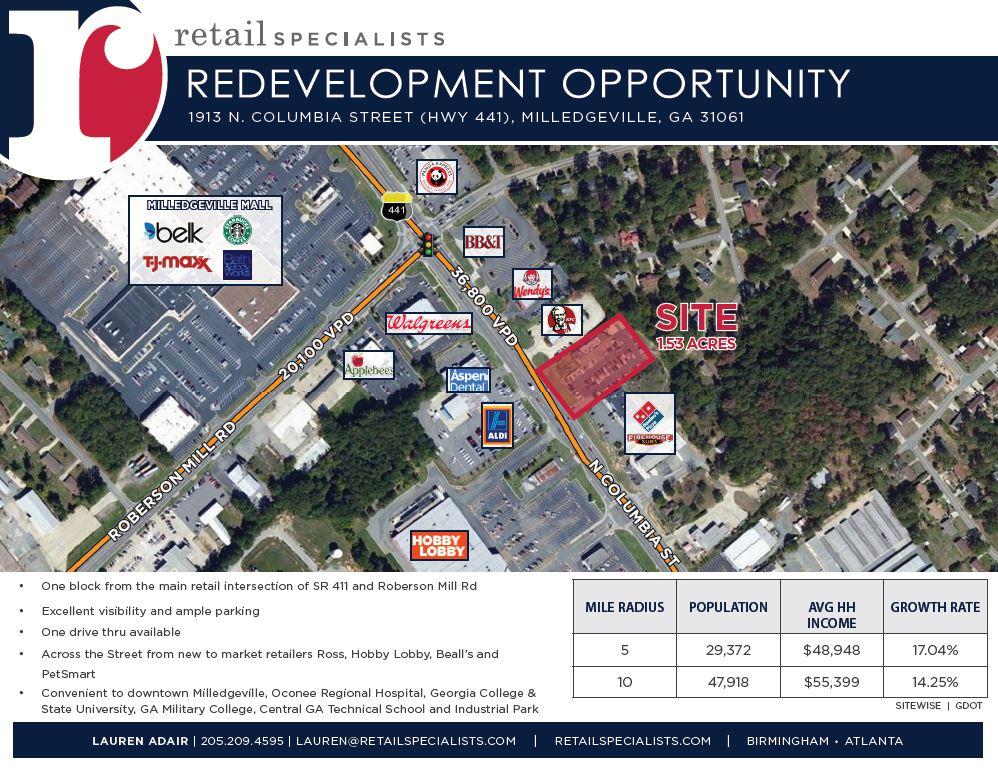 REDEVELOPMENT OPPORTUNITY / MILLEDGEVILLE, GA