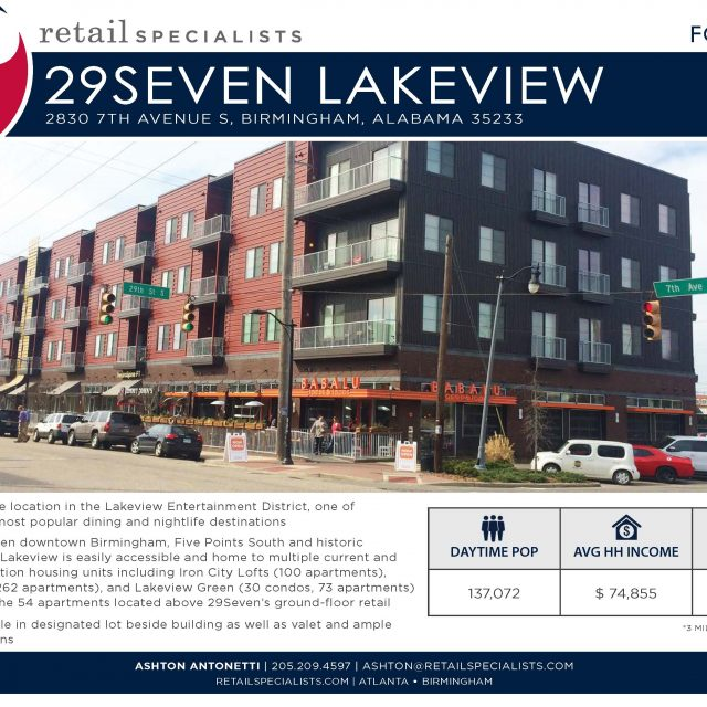 LAKEVIEW 29 Seven / FOR LEASE