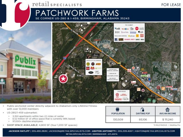 PUBLIX ANCHORED CENTER / FOR LEASE