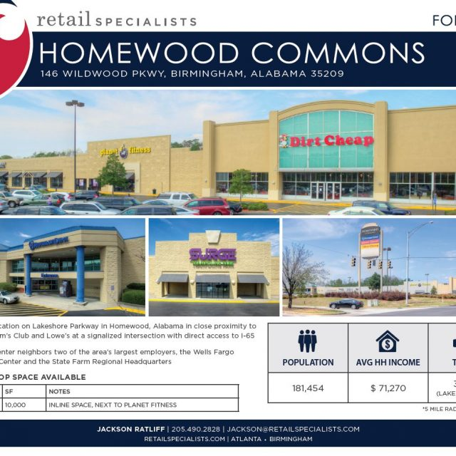 HOMEWOOD COMMONS / FOR LEASE