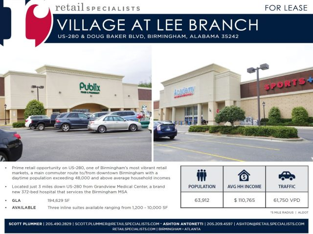 VILLAGE AT LEE BRANCH / FOR LEASE