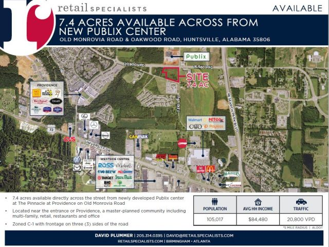 7.4 ACRES / ACROSS FROM NEW PUBLIX CENTER