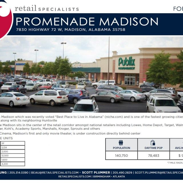 PROMENADE MADISON / FOR LEASE