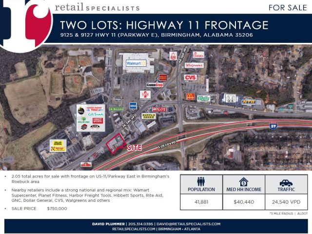 TWO LOTS / HWY 11 FRONTAGE