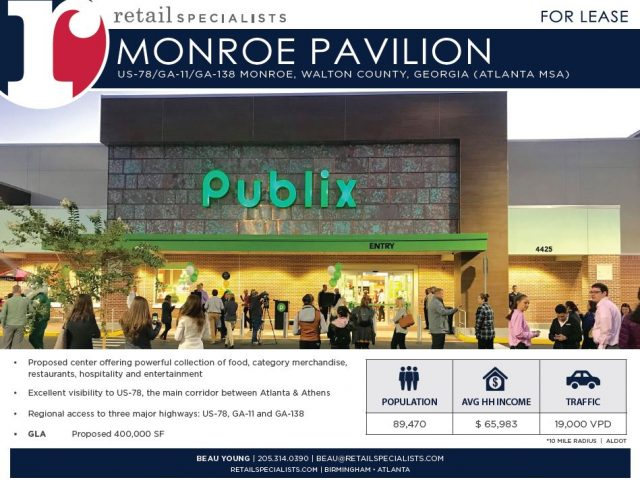 MONROE PAVILION / NEW DEVELOPMENT FOR LEASE